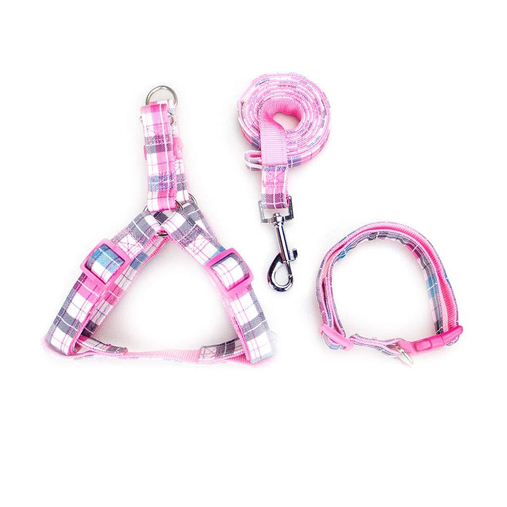 B XS B XS Pet Leash Dog Leash Puppy Chain Pet Collar Hyena Rope Dog Strap Medium Small Puppies Pet Supplies 4 colors Lattice (color   B, Size   XS)