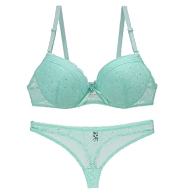 Image Unavailable. Image not available for. Color  DolCasa Women Bra Set  Lace Drill Plus Size Push Up Underwear Set Bra and Thong Set ad8d4b811
