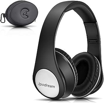 Cascos Bluetooth Inalámbricos, Auriculares Bluetooth Diadema con Micrófono Manos Libres, Plegable Hi-Fi Estéreo con 3.5mm Audio Jack para TV, PC, Tablet, Móvil by Jpodream - Negro: Amazon.es: Instrumentos musicales