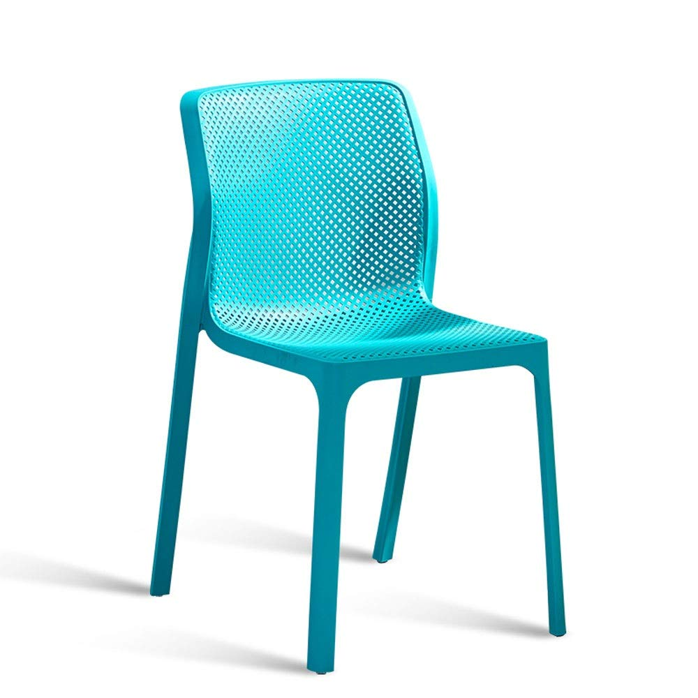 bluee Modern Minimalist White Creative Hollow Leisure Chair Nordic Dining Chair Home Adult Back Stool Restaurant Chair (color   Red)