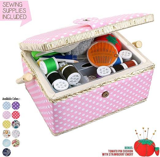 Nähset das ideale Geschenk Nähset Sewing Kit pink mit Magnetverschluss