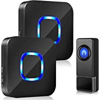 BITIWEND Draadloze deurbel, 300 m bereik, 115 dB, IP55 waterdicht, draadloze huisdeurbel, 58 melodieën, 5 volumeniveaus…