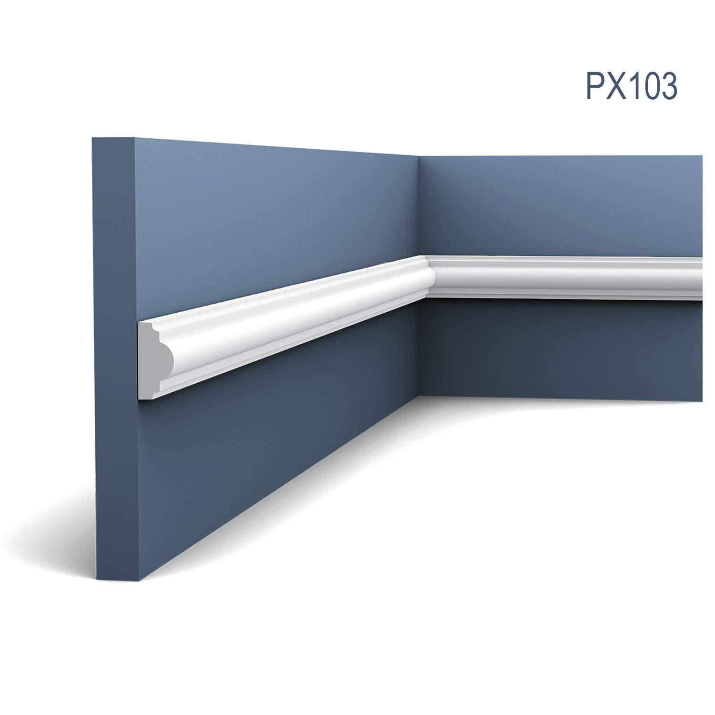 Perfil de estuco Moldura Cornisa Orac Decor PX103 AXXENT Elemento decorativo para pared y techo 2 m: Amazon.es: Bricolaje y herramientas