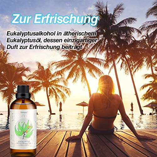 Innoo Tech Eucalyptus Essential Oil, 100% Pure Natural Aromatherapy Eucalyptus Organic Essential Oil for Diffuser & Humidifier (100ml)