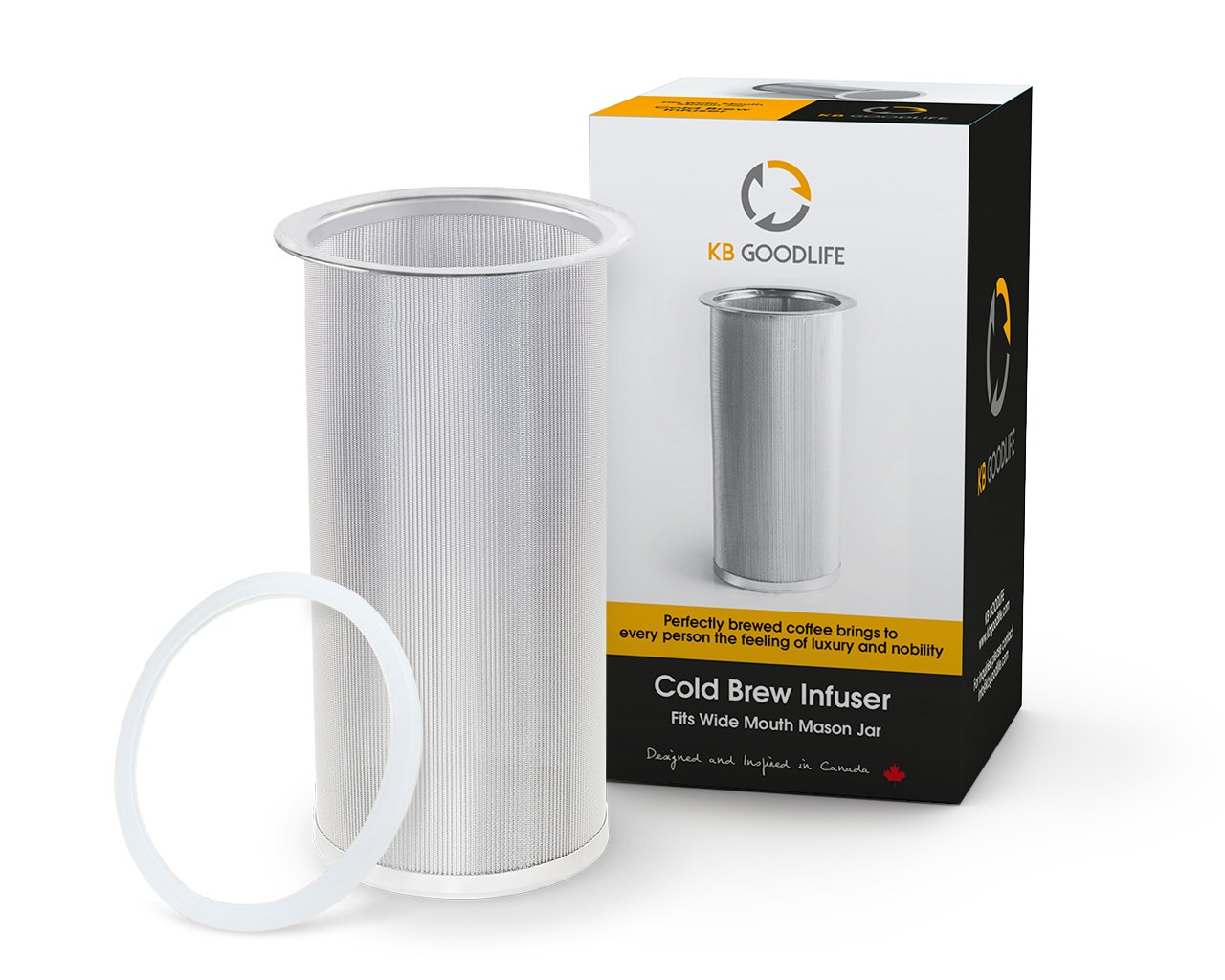 Reusable Cold Brew Coffee Filter Or Loose Leaf Tea Infuser - Our Cold Brew Mason Jar Filter Fits All Wide Mouth Mason Jars. Make This Stainless Steel Coffee Filter A Part Of Your Kitchen Today.