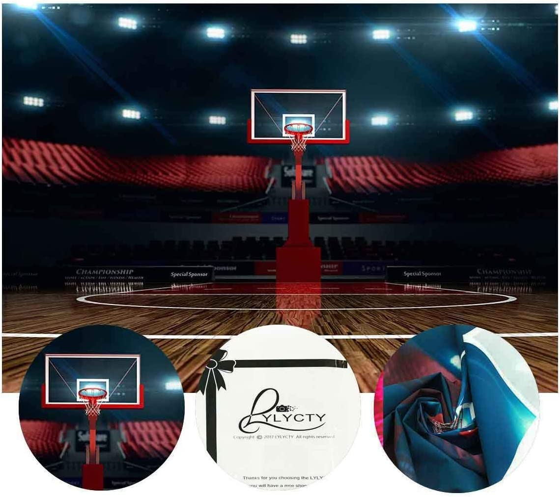 GoHeBe High end Basketball Court Background Indoor Photography Backdrop Sports Club Studio Photo Backdrop Props 5x7ft Room Mural Backdrop PB579