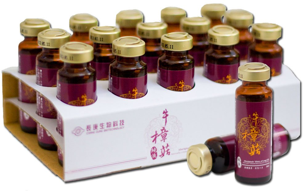Antrodia Cinnamomea Liquid Pure Extract - 25 g/L of polysaccharides - SGS Certified, cGMP Certified, Guaranteed Authentic, rDNA Proven Genuine - 30 bottles, 20ml per bottle - Made in Taiwan.