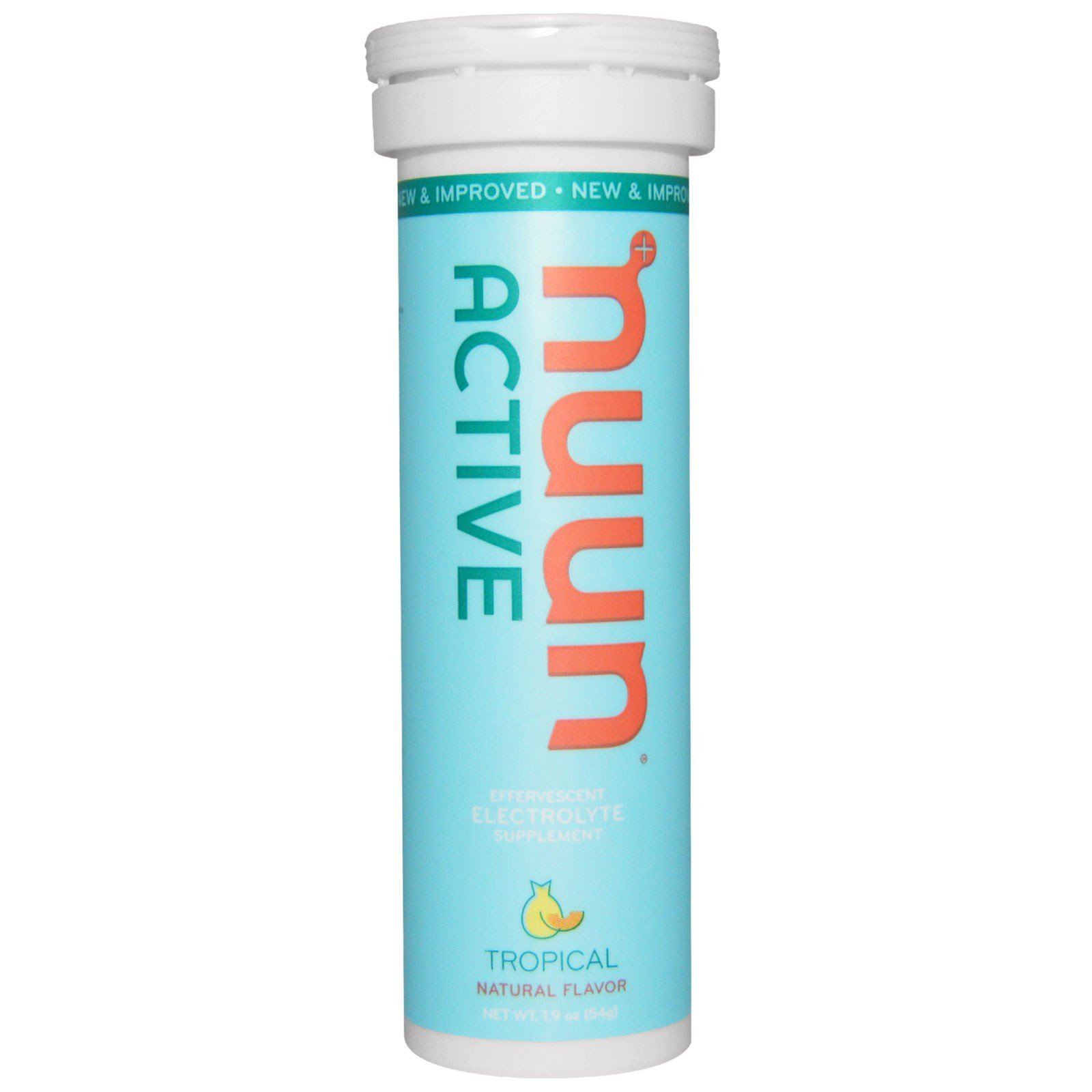 Nuun Active Hydration Variety Pack Water Flavoring (6 Flavors - 60 Tabs) with 22oz. Sports Bottle by VIGOR PATH