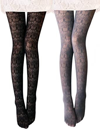 Flow Tights with Imitation Black 2-4 by Knittex