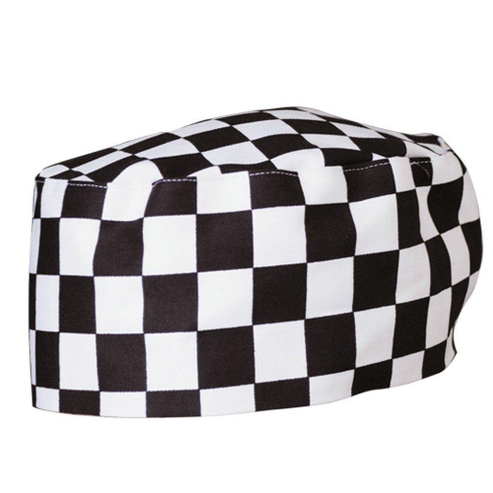 Gracelife Chef Cap Poly-Cotton Blend Pill Box Chef Hat Flat - Color Optional (Black) COMINHKR073819