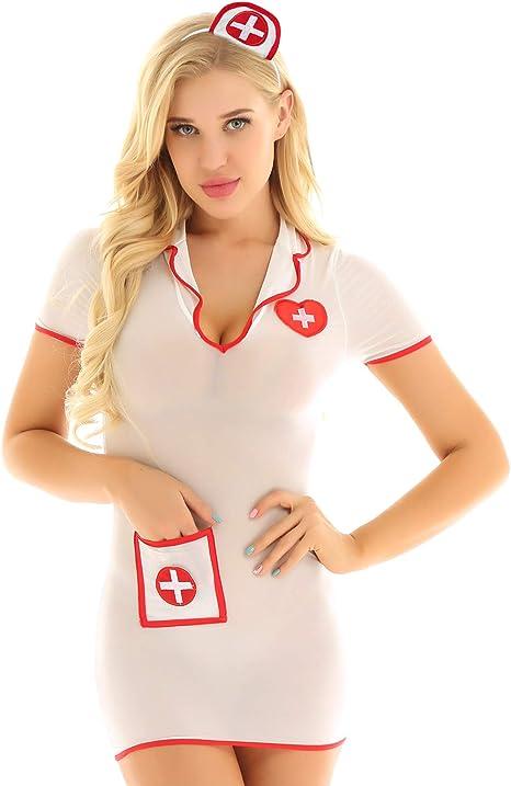 Freebily Disfraz de rol de Doctor Enfermera Mujer Costume Cosplay ...