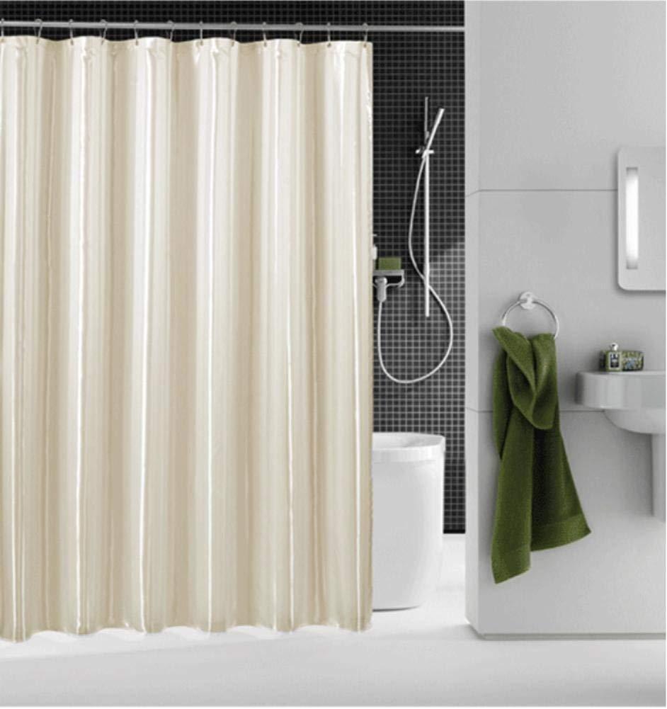 JaHGDU Shower Curtain 1pcs Shower Curtain Waterproof Curtains Polyester Opaque Mildewproof Thickened Premium Bathroom Amenities Plain Toilet Shade Super Quality (Color : 180200cm)