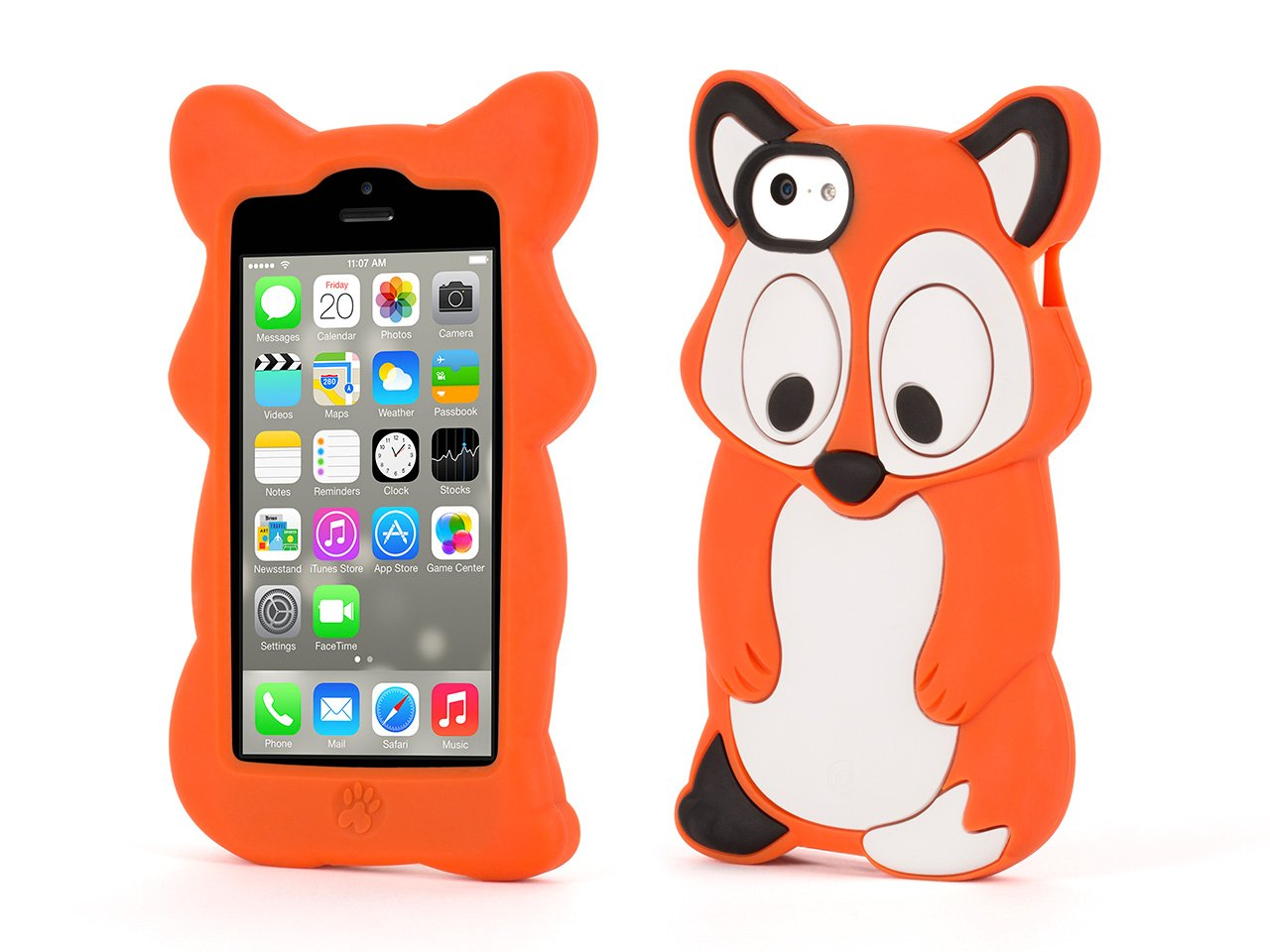 Cell phones amp accessories gt cell phone accessories gt chargers - Amazon Com Griffin Fox Kazoo Protective Animal Case For Iphone 5c Fun Animal Friends For Iphone 5c Cell Phones Accessories