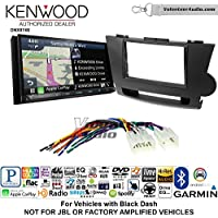Volunteer Audio Kenwood DNX874S Double Din Radio Install Kit with GPS Navigation Apple CarPlay Android Auto Fits 2008-2013 Non Amplified Toyota Highlander (Black)