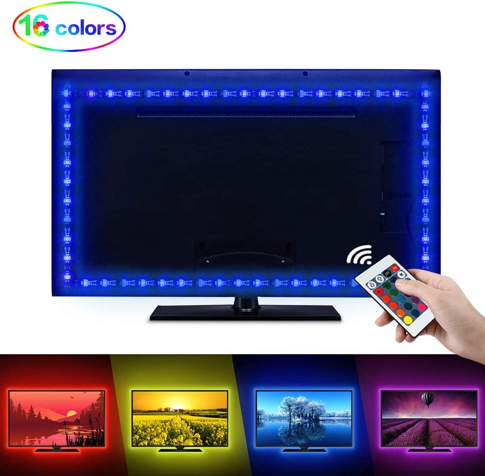 LED Tira de TV, opamoo Tiras LED Iluminación 2M USB Tira de LED ...
