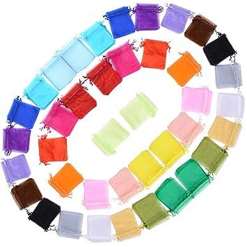d3657c453 AONER 100 X Bolsas Bolsitas de Organza de Boda 10X12cm para Regalo Joyas  Caramelo Dulces Recuerdo Favores Detalles de Boda (Colores): Amazon.es:  Hogar