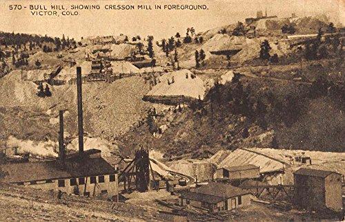 Victor Colorado Crsson Mill Bull Hill Antique Postcard - Mills Store Colorado
