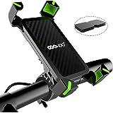 COOWOO 自転車 スマホ ホルダー 振れ止め 脱落防止 オートバイ バイク スマートフォン GPSナビ 携帯 固定用 に適用iphoneXS XR X 7 8 android 多機種対応 角度調整 360度回転 脱着簡単 強力な保護