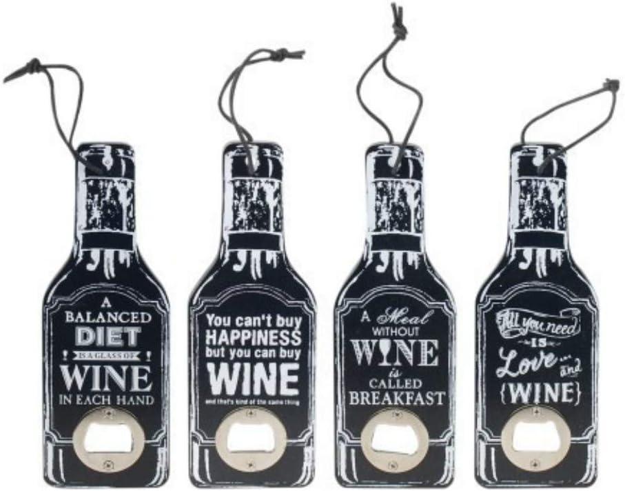 Set de 4 Abridores Decorativos Botellas Wine. Utensilios de Bar ...