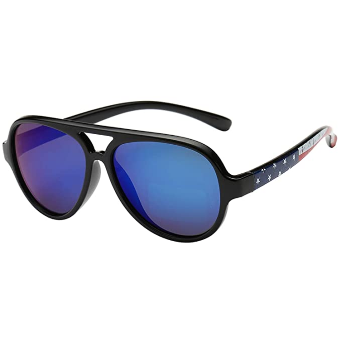 Polarspex Pilot Kids Polarized Bendable Sunglasses for Boys and Girls - BPA Free