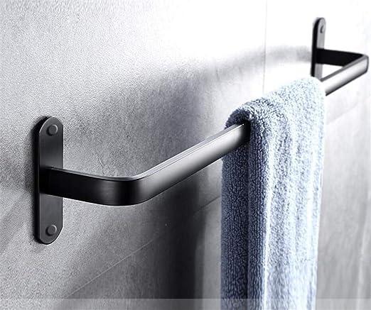 Bathroom Wall Mounted Rail Double Towel Bar Finish Holder Towel Rack