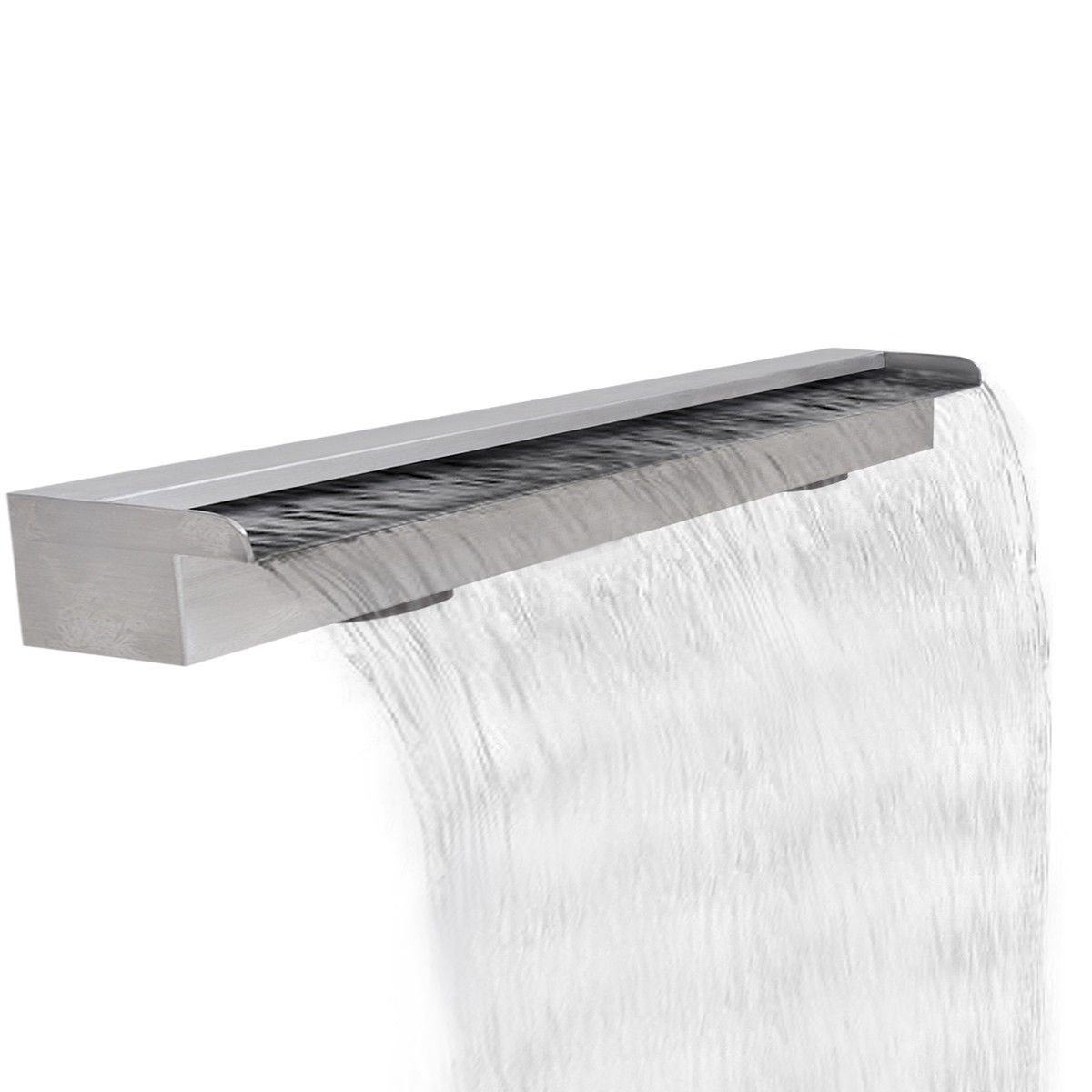 47.2'' Stainless Steel Sheer Descent Cascade Pool Water Fountain Feature by HomeSweet