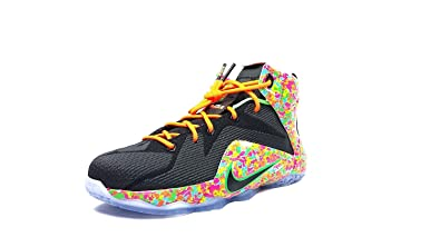 d0f6ab00073 Image Unavailable. Image not available for. Color  Nike Lebron Vll 12 (GS) Fruity  Pebbles 685181 008 Size 5YUS Black Multicolor