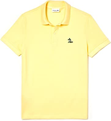 Polo LACOSTE Palm Croc Regular FIT Amarillo M Amarillo: Amazon.es ...