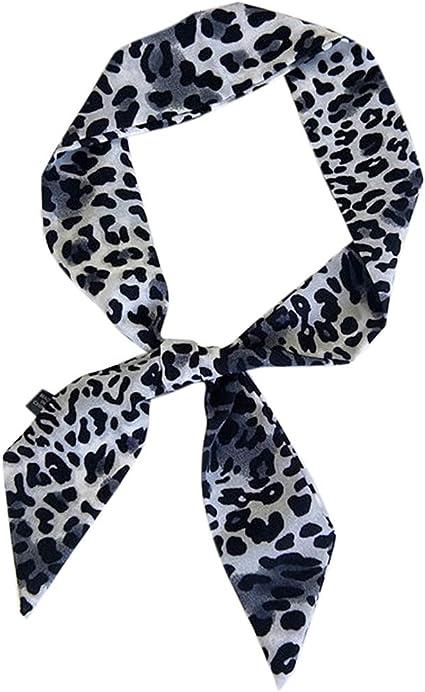 Leopardenmuster Druck Vielfalt Handtasche Schal Tasche Griff Krawatte Band Schal