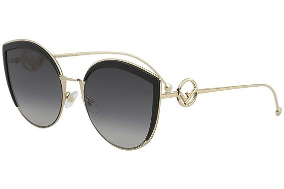 FENDI Fendi Damen Sonnenbrille » FF 0269/S«, schwarz, 807/9O - schwarz/grau