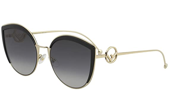 63a1f3b0e8 Amazon.com  Fendi Women s Round Slight Cat Eye Sunglasses