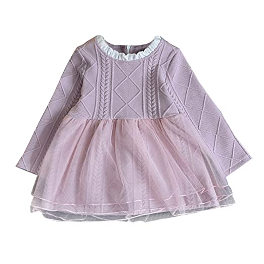 Amazoncom Featurestop Baby Tutu Dress Knitted Sweater Pullovers