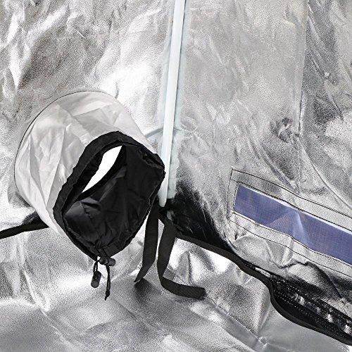 "61A2U8mzz L - Yaheetech 48""X24""X60"" Reflective Indoor Grow Tent Kit Complete Hydroponic Non Toxic Grow Hut Box"