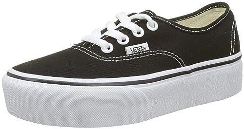 c5423258fe Vans Authentic Platform 2.0 Negro Blanco Mujeres Lona Trainers  Amazon.es   Zapatos y complementos