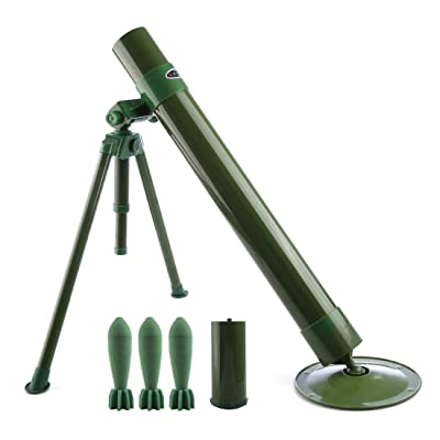 QZY Worker Tactics Mortar,60mm Caliber Foam Soft Bullet Launcher for Nerf CS Battle: Toys & Games