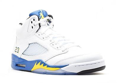 new product 53df1 1353f Jordan Air 5 Retro Men s Basketball Shoes White Varsity Royal-Black 136027- 189