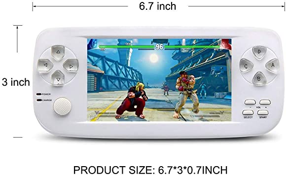 White CZT 16GB Pap kiii 3 Plus 4.3 inch Screen Dual core Handheld Video Game Console Good Workmanship Build in 3000 Game for NEOGEOCPSGBAGBCGBSFCFCMDGGSMS MP3//4 Detachable Lithium Battery