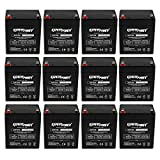 (12 Pack)ExpertPower 12V 5Ah Home Alarm Battery With F1 Terminals || EXP1250