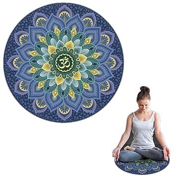 jkkl India Nuevo tapete de yoga redondo de 60X60 cm de ...