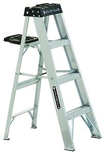 Louisville Ladder AS3004 Aluminum 4-Foot Ladder 300-Pound Duty Rating, 4 Feet