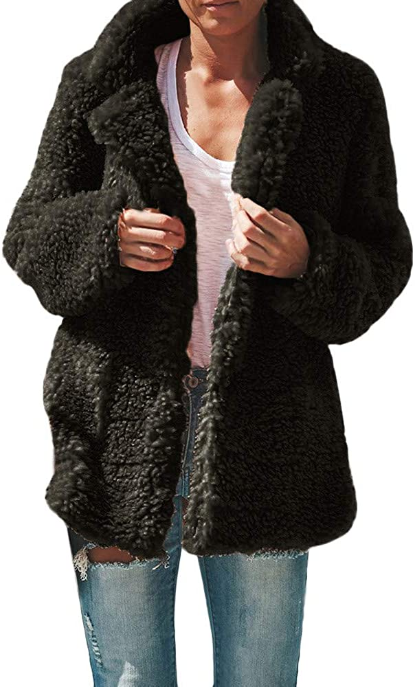 Teddy Coat,Teddy Bear Coat,Womens Casual Jacket Winter Warm Parka Outwear Ladies Coat Overcoat Outercoat-Dimanul
