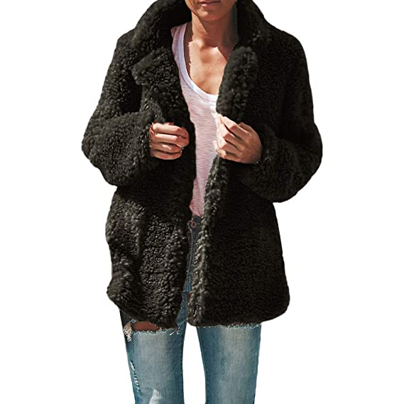 free shipping 88107 fee69 Longra Damen Wintermantel Wollmantel Warm Winter-Jacke ...