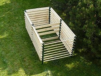 Compostador M – Capacidad 2500 L – Doble cámara, grande y fácil de utilizar compostador para Medianas y grandes Jardines Diseñado.: Amazon.es: Jardín