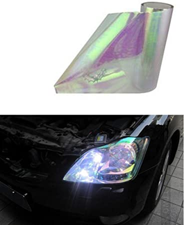 60cm Red Car Light Film Styling Chameleon Stickers Automobile Sticker Headlight Taillight Vinyl Tint Light Film Wrap 30