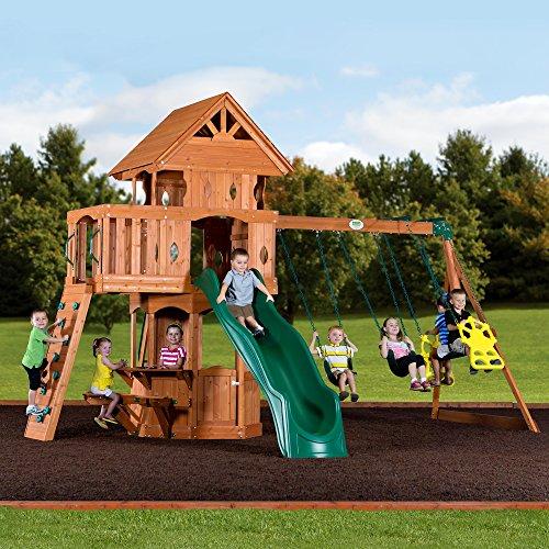 Backyard Discovery Woodland All Cedar Wood Playset Swing Set