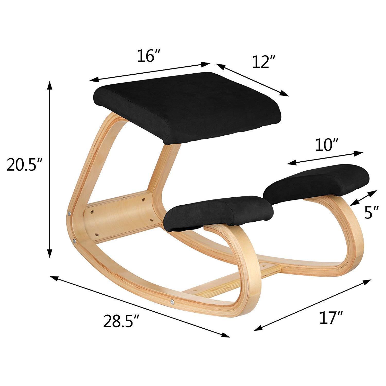 Comfortableplus Silla de rodillas ergonómica - Better Posture Kneeling Stool - Gran oficina en el hogar o silla de escritorio - Asiento más grande, ...