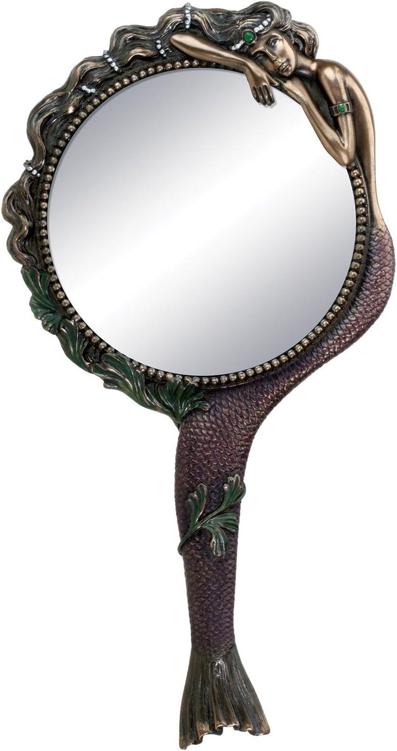 Art Nouveau Collectible Mermaid Hand Mirror Nymph Decoration