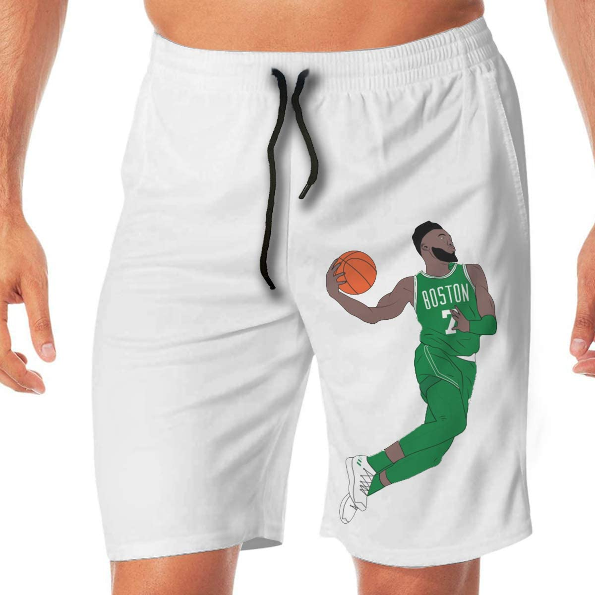 Brown Basketball Casual Sport Beach Shorts Quick-Dry Board Shorts Reynoldss Caraaed Mens Cartoon Jay