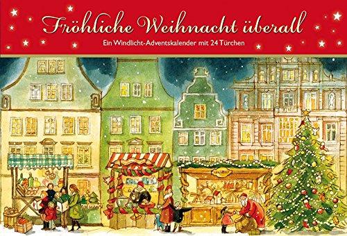 Fröhliche Weihnacht überall: Ein Windlicht-Adventskalender mit 24 Türchen