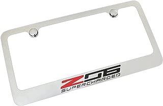 product image for Chevrolet Corvette C7 Z06 Chrome Metal License Plate Frame